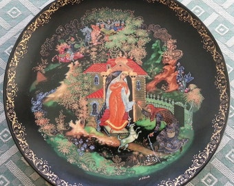 The Dead Princess and the Seven Knights Russian tales Plate Porcelain