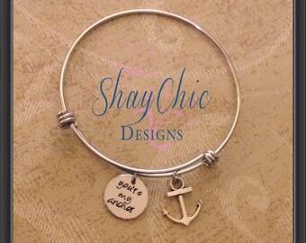 You're my anchor adjustable bracelet