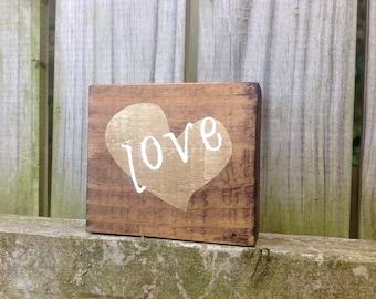 Wooden LOVE block
