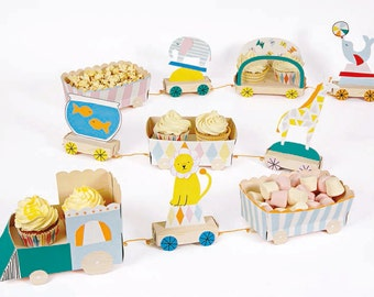 Baby Circus Card Cupcake Stand - Party Paper Centrepiece Meri Meri