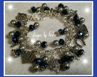 Agricultural charm bracelet