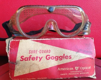Vintage Safety Goggles in Original Box