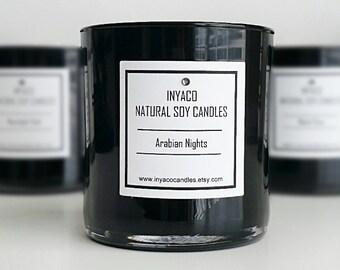 Arabian Nights Soy Candle 12oz Glass Jar