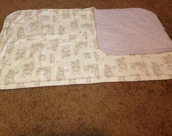 Bunny purple plad baby blanket