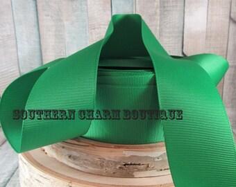 "3 yards of 1 1/2""  green grosgrain ribbon"