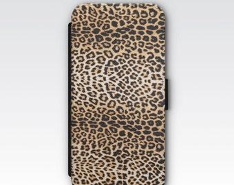 Wallet Case for iPhone 8 Plus, iPhone 8, iPhone 7 Plus, iPhone 7, iPhone 6, iPhone 6s, iPhone 5/5s -  Leopard Spot Print Phone Case
