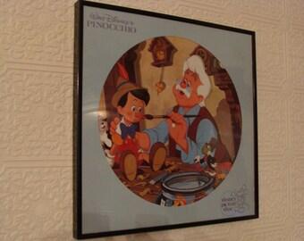 Disney's Pinocchio Framed Vinyl Picture Disc LP Album