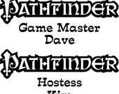 Pathfinder - GM/Hostess
