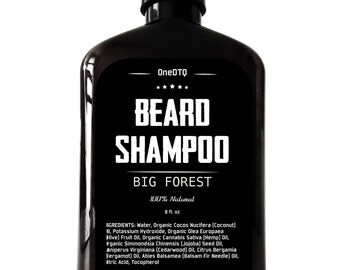 Beard Shampoo - 100% Natural Beard Care. Thoroughly Cleans and Deeply Conditions Your Beard. Promotes Beard Growth & Stops Beard Itch.