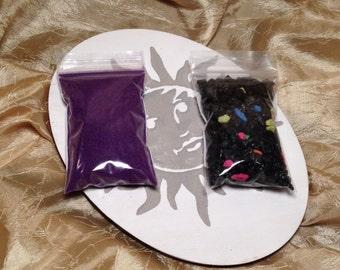 2 oz. Purple Resin Incense Burning Sand, 2 oz. Starry Nights Rocks