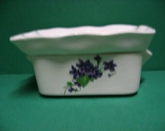 Beautiful retrangular ceramic Africian Violet pot
