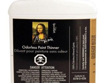 Mona Lisa Odorless Brush Cleaner and Paint Thinner for Genesis Paints - 8 oz Reborn Doll 2916