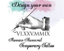 Unique Roman Numerals Art Related Items Etsy