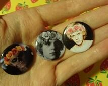 Evan Peters Flowercrown Pinback Badge (3 Pack)