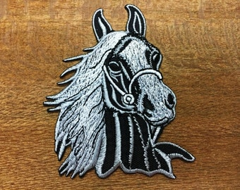 New Horse colt bronco filly mustang pony stallion steed applique iron-on patch