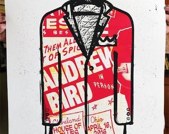Andrew Bird Cleveland Gig Poster