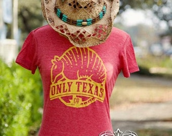 Only Texas Company - Texas Armadillo Red and Yellow
