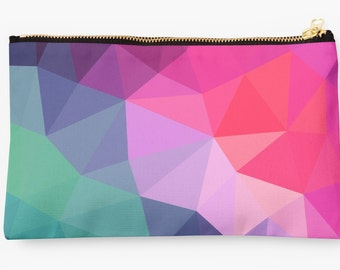 Geometric Triangles Pouch Purse Carry All