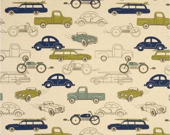 FULLY LINED Valance - Retro Rides - Car Theme -  cars, trucks, vintage cars, retro cars