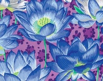 1/2 yard Leopard Lotus Purple Philip Jacobs  fabric   PJ081