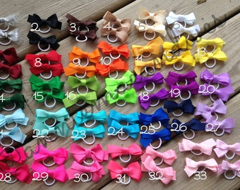 Pairs of Pigtail Hair bows
