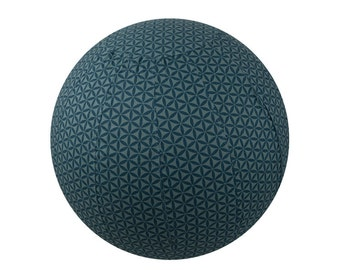65cm Balance Ball Cover, Exercise Ball Cover, Yoga Ball Cover, Fitness Ball Cover, Fair Trade - Sage Flower of Life