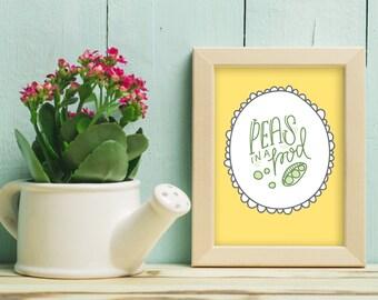 8 x 10 peas in a pod - print