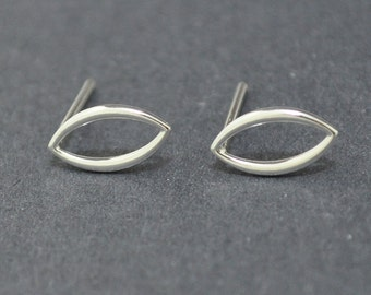 Sterling Silver Studs, Marquise Studs, Tiny Studs, Tiny Earrings