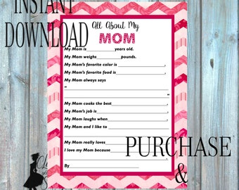 Mother's Day Printable, All about MomPrintable, Mother's Day Printable, Mother's Day Card 034