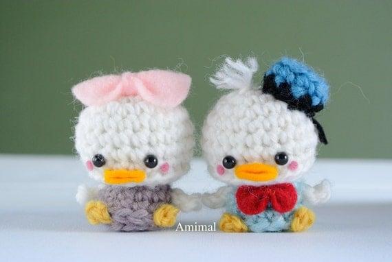 Donald Duck Amigurumi Pattern : Amigurumi Plush mini Donald Duck by Amimal on Etsy