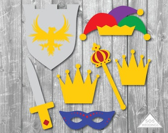 Royal Photobooth Props, King and Queen Photobooth Props, Wedding Photo Booth, Princess Photobooth, Printable photobooth, photo booth crowns