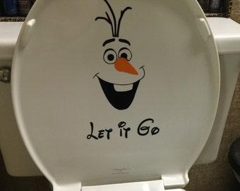 """Frozen Olaf """"Let it go"""" Toilet Design"""