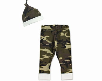 Baby Boy Clothes Baby Camouflage Orange Bow Tie Camo Vest