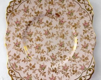 "Royal Tuscan Bone China Chintz ""Sunshine"" Cake Plate"