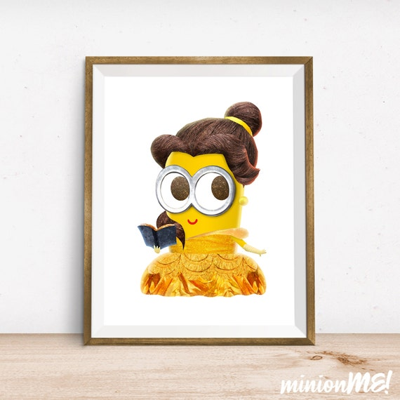 Items Similar To Belle Minion Print Beauty And The Beast