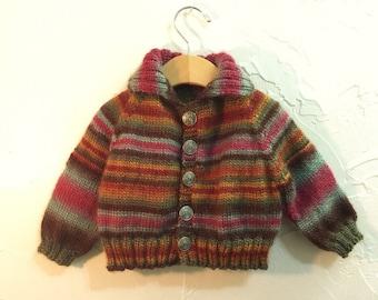 Heavy Sweater Jacket in Rich Earth Tones
