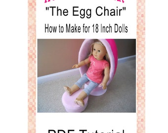 Egg Chair PDF Pattern Tutorial for 18 Inch Dolls