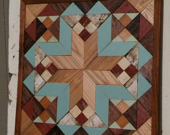 salvaged wood wall art, southwestern decor, barn quilt