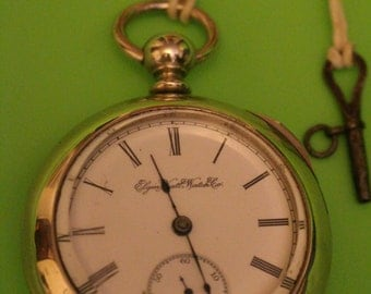 1893 Antique Elgin Pocket Watch 7 jewel S18