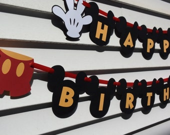 Mickey Mouse Birthday Banner, Mickey Mouse Party Decorations, Birthday Party Decorations, Mickey Mouse Clubhouse Decorations, Birthday Party