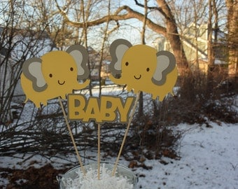 Elephant Table Centerpieces, Elephant Themed Party Decorations, Elephant Baby Shower Decorations, Elephant, Baby Shower