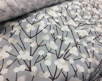 "GORGEOUS Marimekko Lavender Gray Lumimarja satin cotton piece for purses and other cute projects, ,  Finland, 72cm x 46 cm, 18"" x 28"""