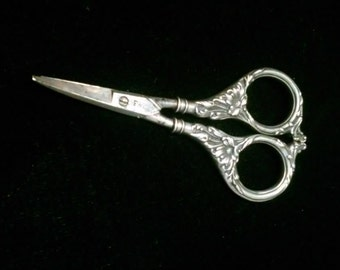 Sterling Silver Art Nouveau Scissors