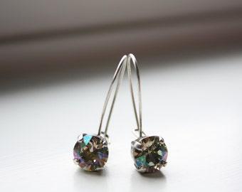 Swarovski Crystal Drop Earrings, Neutral Color