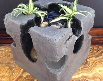 Unique Indoor Tabletop Fountain, Water Fountain, Garden Fountain,  Waterfall, Stone Sculpture