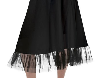 white or black Petticoat underskirt Lolita Petticoat 50's style  27 inch petticoat from tulle