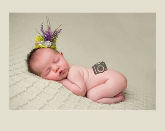 Newborn spring crown photoprop, choice of 2. Made to order.