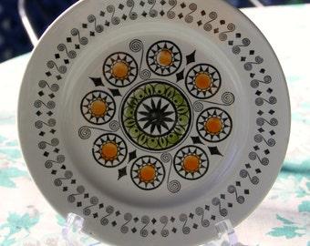 "Vintage 1960's Staffordshire Broadhurst Ironstone Kath Winkle design ""Rennaiscence""  Bread Plate"
