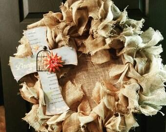 Shabby Burlap Wreath