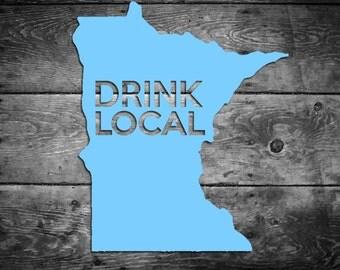 Minnesota MN Drink Local Vinyl Sticker
